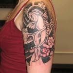 half sleeve yakuza tattoo