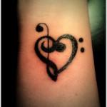 black ink wrist tattoo