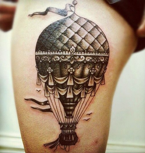 a0f2e2292 Clay McCay hot air balloon tattoo design - Design of TattoosDesign ...