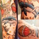 Ryan Mason hot air balloon tattoo