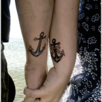 anchor wrist tattoo for couples