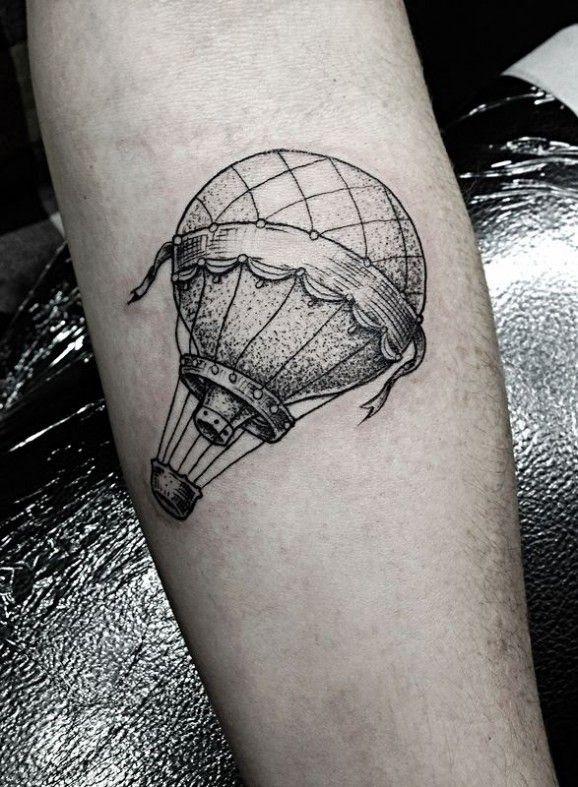 7a42bcf97 dotwork hot air balloon tattoo. Views: 2844. 0. by Design of Tattoos