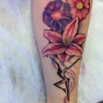 combined morning glory tattoo