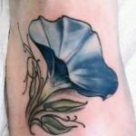 simple morning glory tattoo