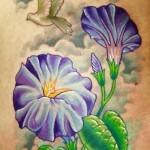 amazing morning glory tattoo