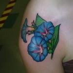 morning glory tattoo for women