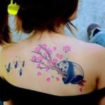 feminine panda bear tattoo