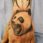 fierce panda bear tattoo