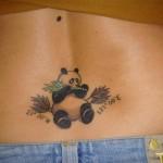 tiny panda bear tattoo