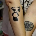 cute panda bear tattoo