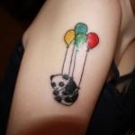 creative panda bear tattoo
