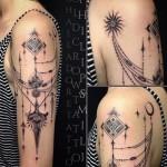 Philip Milic baroque tattoo design for women