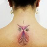 Aline Wata artistic owl tattoo