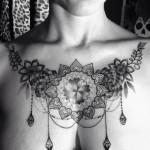baroque chestpiece design for women