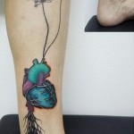 Aline Wata beautiful heart tattoo design