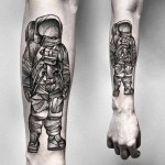 Kamil Czapiga black astronaut tattoo