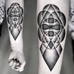 Kamil Czapiga black geometric tattoo