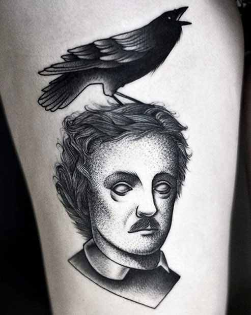 Kamil Czapiga black portrait tattoo desifn