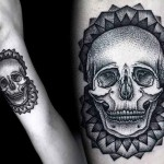 Kamil Czapiga black skull tattoo design
