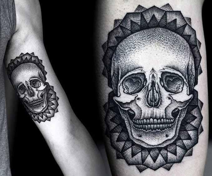 Kamil Czapiga black skull tattoo design