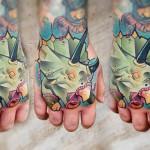 Lehel Nyeste color tattoo on hand