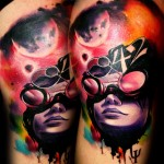 colourful realistic tattoo design by Lehel Nyeste