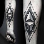 Kamil Czapiga geometric black tattoo design