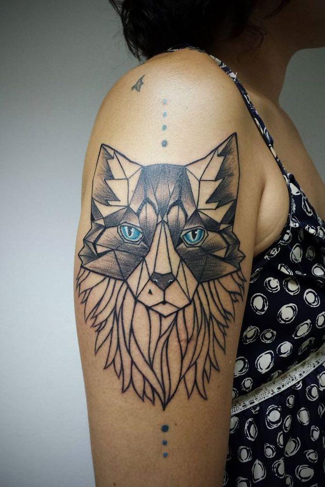 Geometric Wolf Tattoo By Aline Wata Design Of