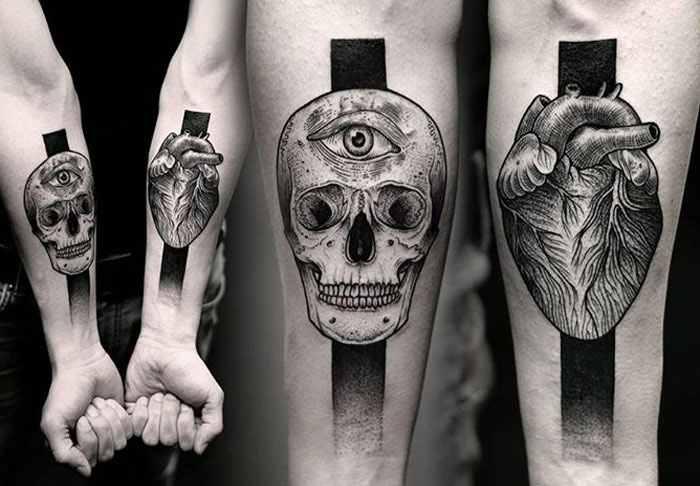 Kamil Czapiga impressive black tattoos