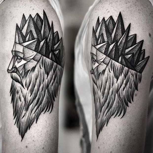 Kamil Czapiga realistic black tattoo