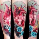 realistic heart tattoo design by Lehel Nyeste