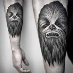 Kamil Czapiga scary black tattoo design