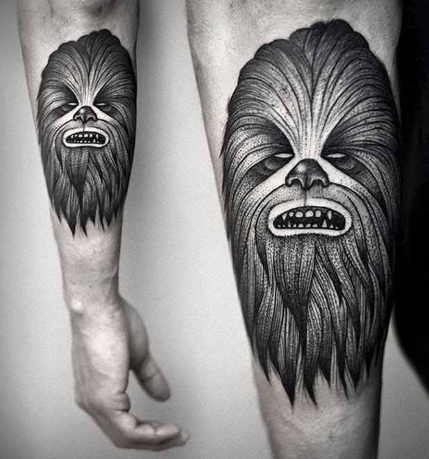 Kamil Czapiga scary black tattoo design