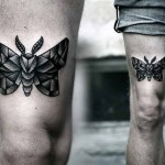 Kamil Czapiga tiny black tattoo design