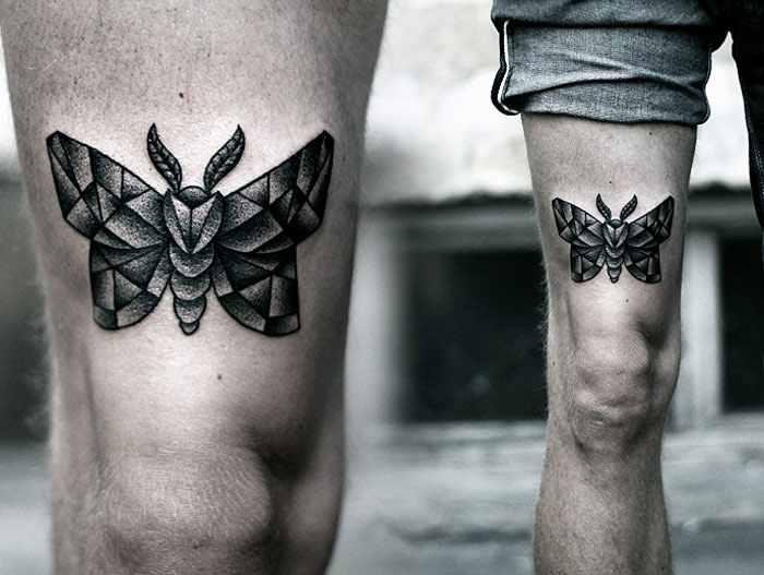 Kamil Czapiga tiny black tattoo design