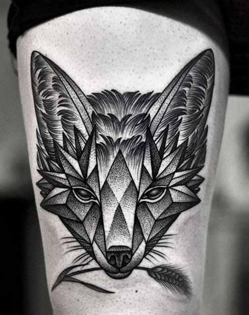 Kamil Czapiga unique black tattoo design