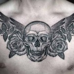 Kamil Czapiga wonderful black skull tattoo design