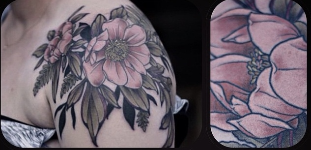 flower tattoo design by Alice Kendall