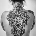 Alvaro Flores back tattoo design