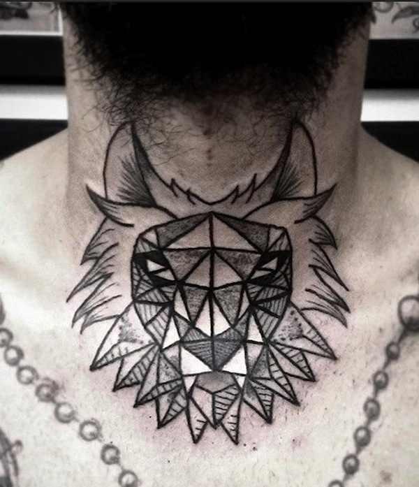 Akaua Pasqual black chest tattoo
