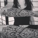 Alvaro Flores black half sleeve tattoo design