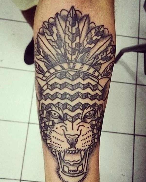 Akaua Pasqual fierce tiger tattoo design