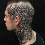 Alvaro Flores head tattoo design