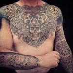 Alvaro Flores large tattoo design