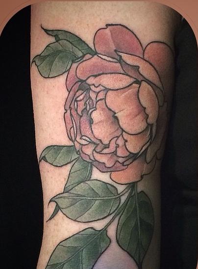 Alice Kendall vintage flower tattoo