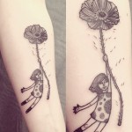 Ana Work poppy girl tattoo design