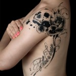 amazing skull tattoo designed by Sadhu le Serbe