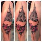 Lukasz Kaczmarek castle tattoo design