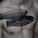 Ilya Brezinski chest tattoo design