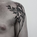 Ilya Brezinski creative shoulder tattoo design